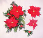 10 SETS TATTERED LACE CHARISMA DIE CUTS 250gsm - POINSETTIA 10 Colours/Mixed