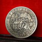 1921 Skull Pirate Retro Metal Commemorative Coin Commemorative Collection