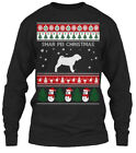 Shar Pei Dog Ugly Sweater S - Christmas Gildan Long Sleeve Tee T-Shirt