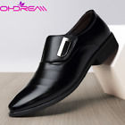 Mens Oxfords Leather Shoes Pointed Toe Wedding Formal Office Casual Loafers New