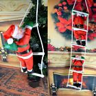 Christmas Climbing Santa Claus With Rope Xmas Ladder Tree Hanging Home Decor US
