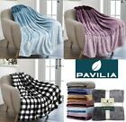 Ombre Gradient Throw Blanket for Sofa Couch Silky Soft Lightweight Decorative image