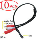 10 Pcs -MD High Sensitive DC Audio Mini Mic Microphone for CCTV Security DVR Cam