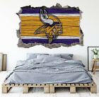 Minnesota Vikings Wall Art Decal 3D Smashed Kids Bedroom Wall Decor WL157 on eBay