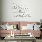 The Best Things In Life Quote Wall Stickers Bedroom Living Room Decal Home Decor