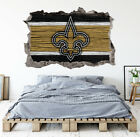 New Orleans Saints Wall Art Decal 3D Smashed Football Kids Wall Decor WL163 $36.95 USD on eBay