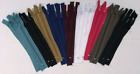"""Nylon #3 Zippers 7"""" pack of 25 Bulk for Sewing Crafts Assorted Colors"""