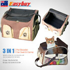 Dog Cat Puppy Outdoor 3 in 1 Pet Booster Car Seat Carrier Bag Travel Basket AU