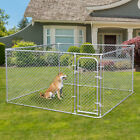 Dog Kennel Steel Wire Outdoor Heavy Duty Pet Cage Pen Run House Galvanized Fence for sale  USA