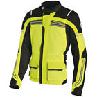 Richa Phantom Waterproof Textile Motorcycle Jacket D3O Armour - Full Fluo