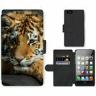 Phone Card Slot PU Leather Wallet Case For Apple iPhone Tiger Animal Pattern