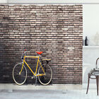Vintage Shower Curtain Retro Bicycle on Wall Print for Bathroom