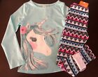 Внешний вид - NWT Gymboree Girl Enchanted Winter Unicorn Tee/ Fuzzy Leggings Outfit   7 10