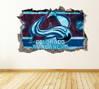 Colorado Avalanche Wall Art Decal Hockey Team 3D Smashed Wall Decor WL17 $24.95 USD on eBay