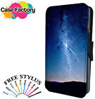 SHOOTING STAR NEBULA SPACE SKY - Leather Flip Wallet Phone Case Cover