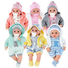 "18"" Lifelike Large Size Soft Bodied Baby Doll Girls Boys Toy Dolly With Sounds"
