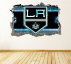 Los Angeles Kings Wall Art Decal Hockey Team 3D Smashed Wall Decor WL27 $36.95 USD on eBay