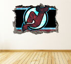 New Jersey Devils Wall Art Decal Hockey Team 3D Smashed Wall Decor WL33 $48.95 USD on eBay