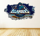 New York Islanders Wall Art Decal Hockey Team 3D Smashed Wall Decor WL35 $24.95 USD on eBay
