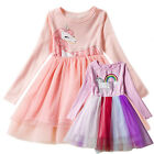 Kids Girl Unicorn Princess Fancy Dress Costume Party Pageant Tulle Tutu Dress US