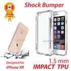 For Apple iPhone XR Protective Case Clear Bumper Shock Absorbing TPU Case Cover