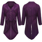 New Men Swallow-tailed Long Coat Tuxedo Jacket Club Cosplay Party Outwear M-4XL