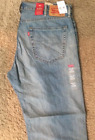 NWT Authentic Levis 559 Relaxed Straight Fit Light Weight Blue Jeans (0363)