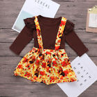 Newborn Baby Girl Jumpsuit Tops+Fox/Turkey Straps Skirt Thanksgiving Outfit Set <br/> ❤️A++Quality❤️Party Clothes❤️Long Sleeve❤️60Days Return