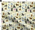 poodles_cream Fabric Printed by Spoonflower BTY