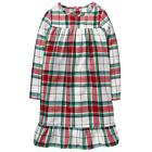 Внешний вид - NWT GYMBOREE Plaid Nightgown Pajama Girls Christmas Holiday North Pole Party