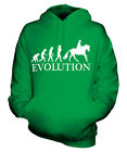 EQUESTRIAN EVOLUTION OF MAN UNISEX HOODIE MENS WOMENS LADIES GIFT HORSE RIDING
