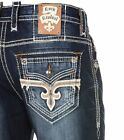 NWT New Mens Rock Revival Straight Jeans Josef 29 30 31 32 33 34 36 38 40 Long
