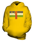 CENTRAL AFRICAN REPUBLIC SCRIBBLE FLAG UNISEX HOODIE TOP GIFT RÉPUBLIQUE