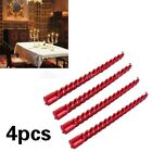 4* Candle Twisted Smokeless Romantic Candlelight Dinner Spiral Candles 3 Colors