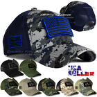 Baseball Cap Trucker Army Hat USA American Flag Tactical Military Adjustable Men