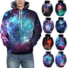 Couples Hoodie 3D Galaxy Printed Unisex Fashion Sweatshirt Pullover Coat Tops US