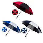 Mens Large Umbrella Striped Golf Windproof Red/Black Blue/White Walking Parasol