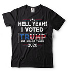 Donald Trump President T-shirt Funny 2020 Elections Hell Yeah I Voted For Trump image