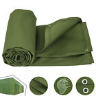 2.4-6m/8-20ft Canvas Tarp Green Cotton Tarpaulin Trucks Campgrounds Resistant