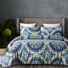 Lightweight Microfiber Duvet Cover Set, Bohemia Style, Reversible Color - Queen image