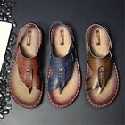 Fashion Anti slip Sole Soft Leather Man Sandal Slip on Slippers Beach Shoes C2