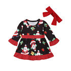 Christmas Baby Girl Infant Tutu Dress Dress+Headband 2Pcs Outfit Clothes