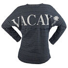 Women's Long Sleeve Top - Perfect Vacay Striped Knit Jersey - Vacay