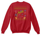 Ugly Sweater Christmas Newt Pet Hanes Unisex Crewneck Sweatshirt