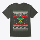 Made In Jamaica Christmas Ugly Sweater Hanes Tagless Tee T-Shirt