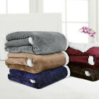 "Flannel Sherpa Throw Blanket 50""x 60"" 60""x 80"" Reversible Soft Microfiber Fleece image"