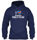 I Heart Democratic Republic Of The Congo Gildan Hoodie Sweatshirt