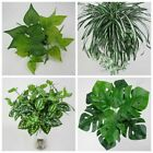 Artificial Plants Fake Leaf Foliage Bush Home/Office Garden Indoor Outdoor Decor