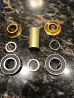 PROFILE RACING MID/SPANISH BOTTOM BRACKET 19MM (no Spindle) Gold Blue Black