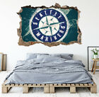 Seattle Mariners Wall Art Decal MLB Baseball Team 3D Smashed Wall Decor WL82 on Ebay